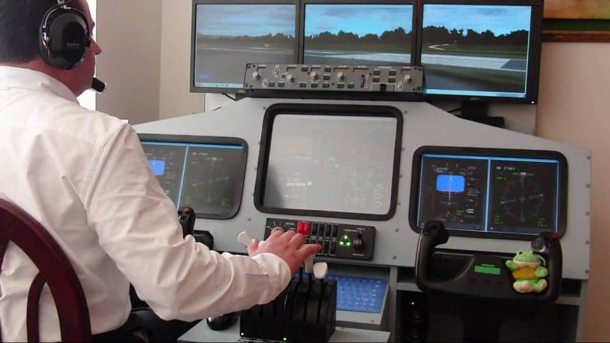 Man With Powerful Flight Simulator Is Fine With Being Single During The Holidays