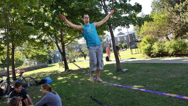 Slackliners Only Exist If You Look Directly At Them