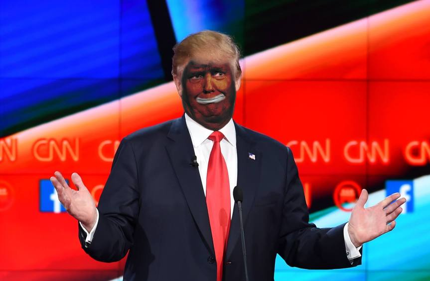 Trump Wears Black Face In Solidarity With Shooting Victims
