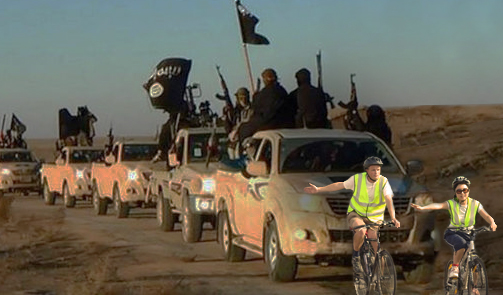 U.S. Military Deploys Wobbly Cyclists to Slow ISIS Advance