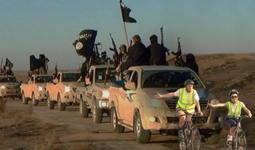 U.S. Military Deploys Wobbly Cyclists to Slow ISISAdvance